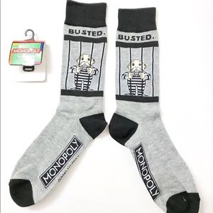 Other - Novelty fun socks - Monopoly - Busted - GO TO JAIL